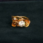 18 K Custom Lilly Diamond Ring.