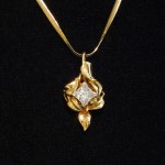 18K Gold Original setting for 2 ct. Diamond