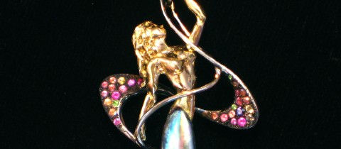 Natural Abalone Pearl Pendant Dancer