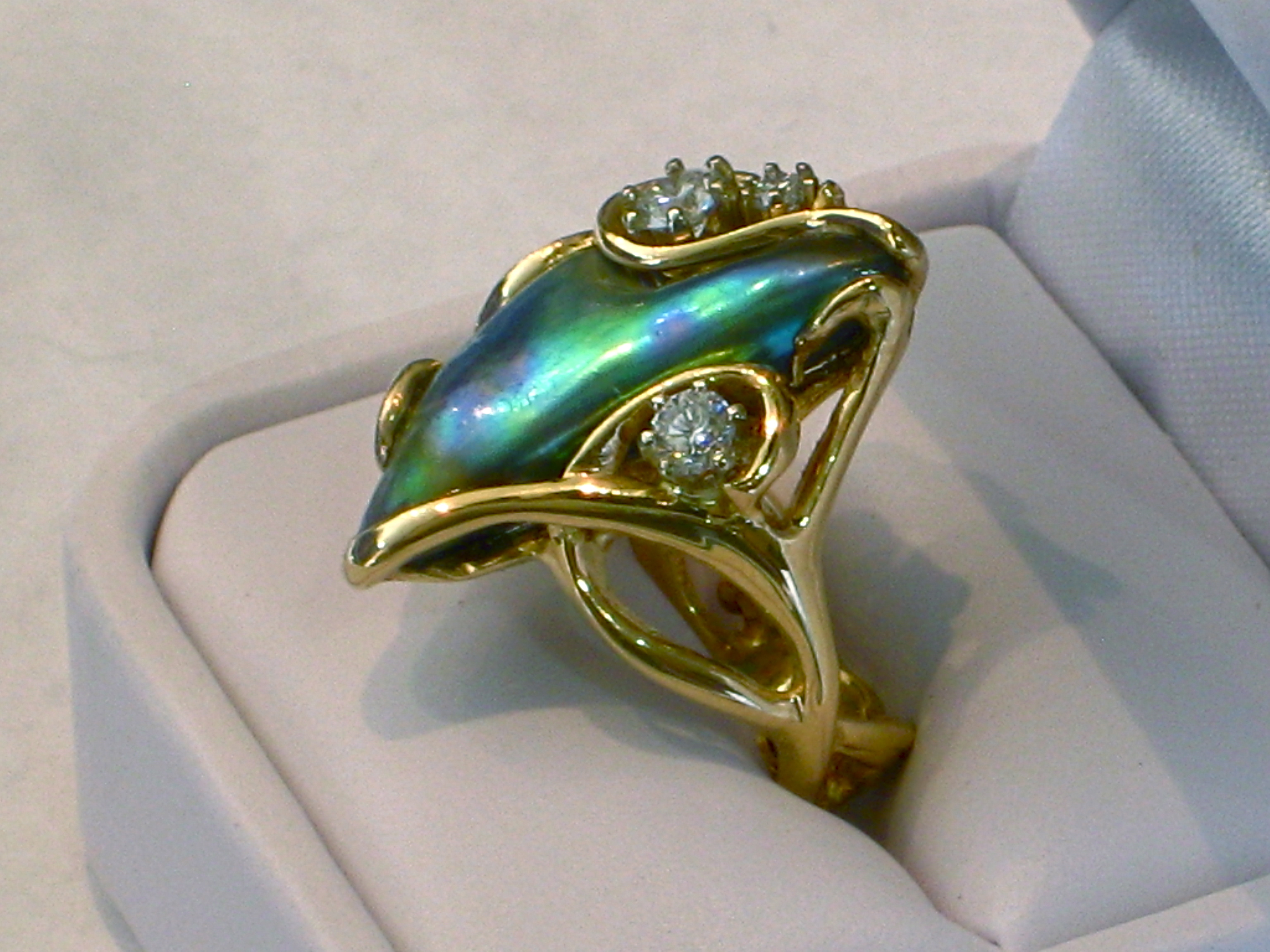 silver products knot sterling trinity abalone marquise rings ring celtic details product sr engagement aba shell stone