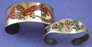 Kirk Milette's early Sterling Silver Inlay