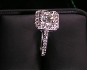 1.25 ct. Diamond set in Platinum Ring