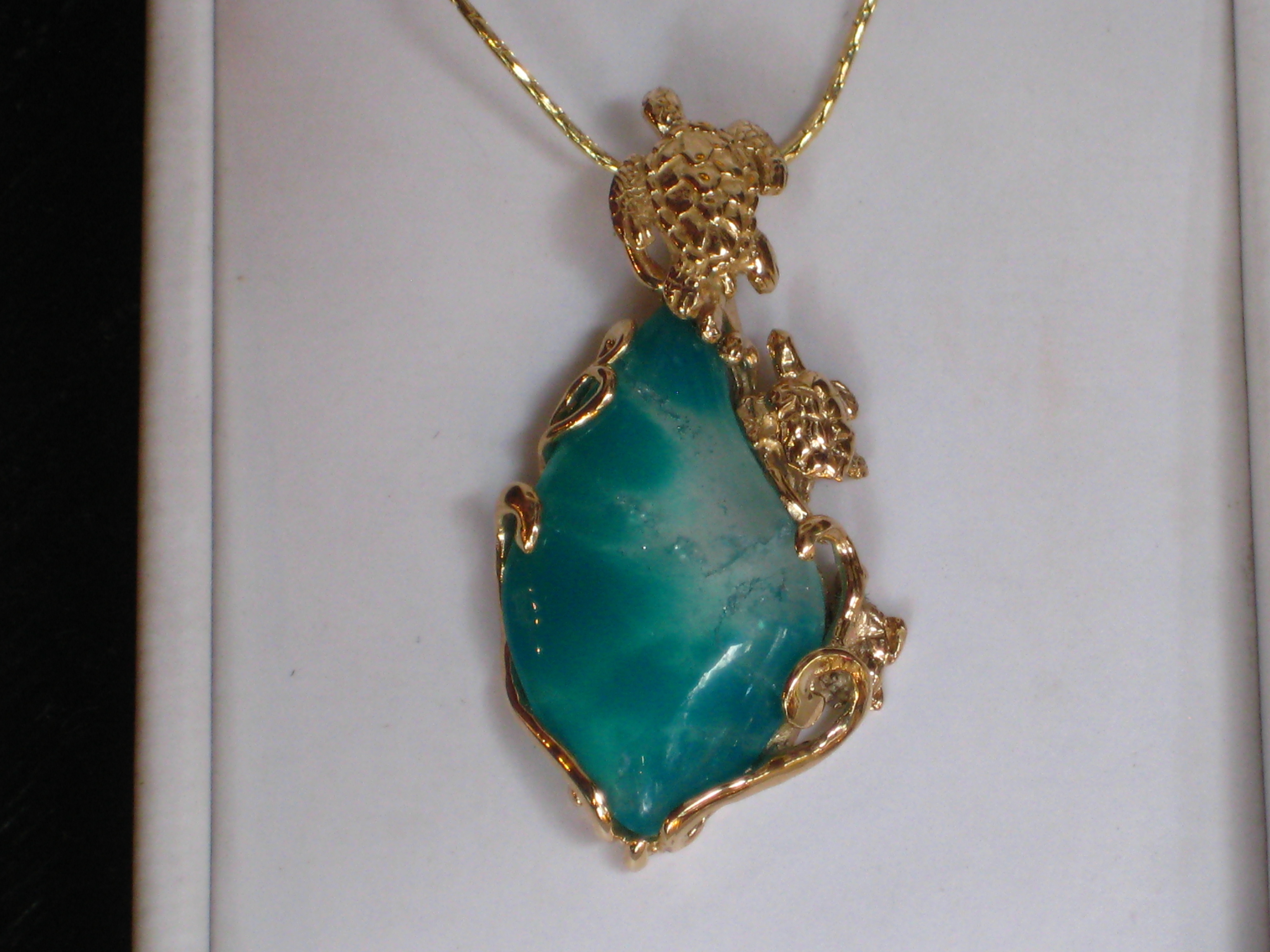 One Of A Kind 14k Pieces With Gem Chrysocolla 171 Kirk